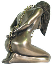 Submission Nude Bondage Erotic Chained Sculpture by Leigh Heppell